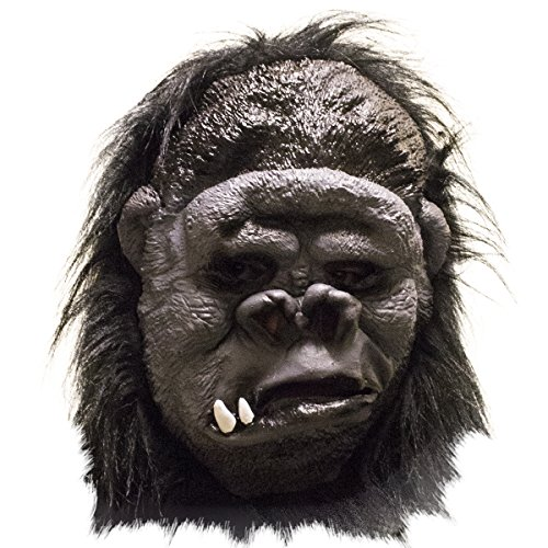 [Tols Toys Gorilla Mask with Realistic Black Hair - Adult Sized Costumes - Lifelike and Comfortable Latex Halloween Mask, No Prep Time - Easy Costume - Durable and] (Fun Cheap Easy Halloween Costumes)