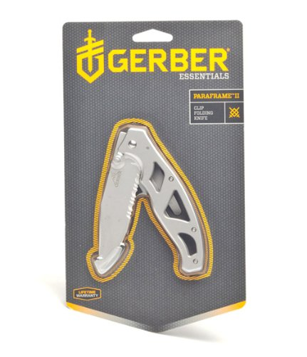 Gerber Paraframe Ii Stainless Steel Serrated Edge Folding Knife front-248677