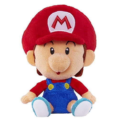 World of Nintendo Baby Mario Plush from Mario Bros Universe - 1