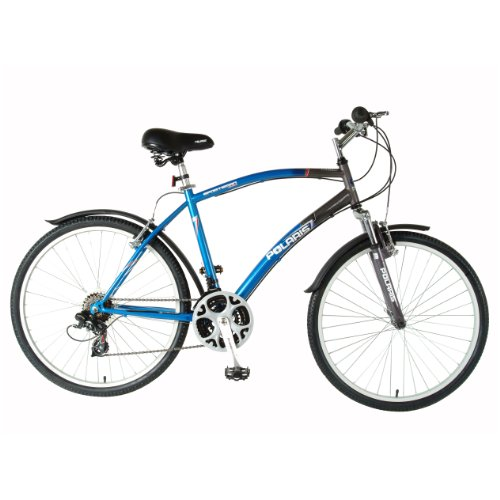 Polaris Men's Sportsman Comfort Bike (Blue/Gray, 26 X 19-Inch)