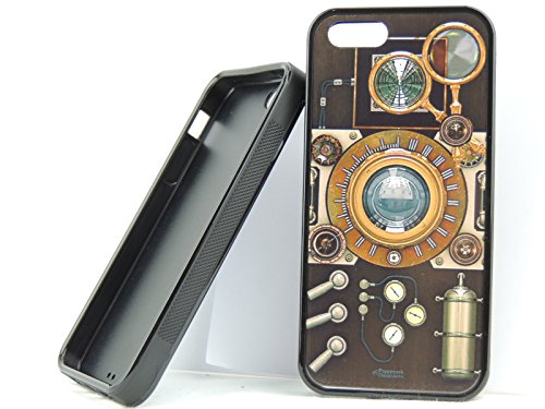 Iphone 5S, Iphone 5 Steam Power Camera Case, Old Technology Case! Free Screen Protector! (Steam Powered Telescope)