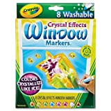Crayola - Washable Window Markers, w/Crystal Affects, Assorted, Sold as 1 Set, CYO 588174
