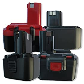 Batteria per Bosch GUS Knolle, 3000mAh / 29Wh, 9,6V, NiMH, nero