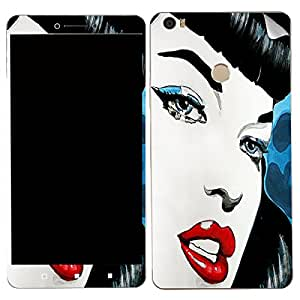 Theskinmantra Red lips Xiaomi MI Max SKIN/STICKER