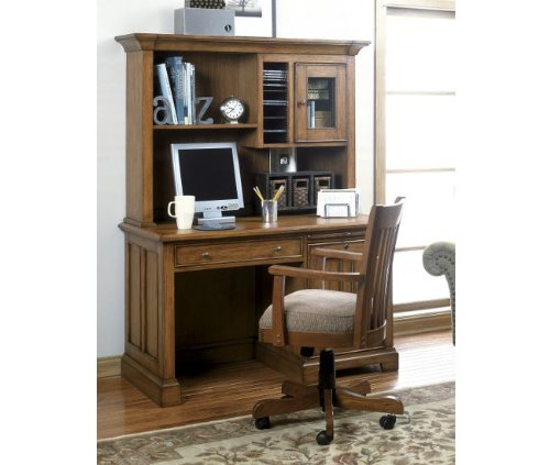 Buy Low Price Comfortable Riverside Woodland's Oak 50 Inch Computer Desk & Hutch 69252-53-27 (B0046U3NHM)