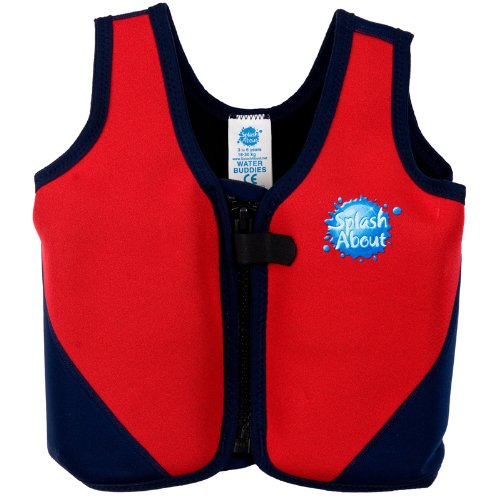 Splash About Neoprene Float Jacket with adjustable buoyancy (Swimming Aid), Red & Navy, X Large Adult 44