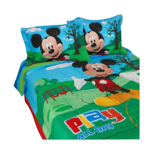 Read About Disney Mickey Mouse Clubhouse Full Size Comforter, Bed Skirt, and Shams