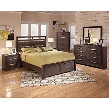 Aleydis Rail-Top Panel Bedroom Set King