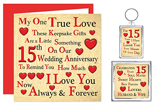 15 Year Wedding Anniversary Gifts For Wife : ... for Husband or WifeOne True LoveCrystal Anniversary 15 Years