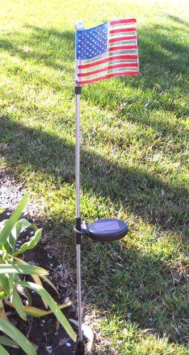 U.S. Flag Solar Garden Stake (Set Of 2 Pcs)