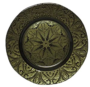 "(A) Baroque Green Dinner Plate 11"" - Set of 4"