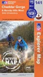 Ordnance Survey Cheddar Gorge and Mendip Hills West (OS Explorer Map Active)