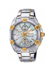 Seiko Women's SNDZ40 Two Tone Stainless Steel Analog with Mother-Of-Pearl Dial Watch