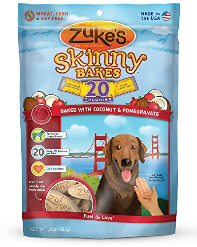 Zuke's Skinny Bakes Dog Treats, Coconut and Pomegranate,  20-Calories, 10-Ounce (Bake Dog Treats compare prices)