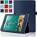 Google Nexus 9 Case - HOTCOOL Ultra Slim Lightweight [New PU-Leather] 2014GF Case For 2014 Edition HTC Google Nexus 8.9-Inch Tablet(With Smart Cover Auto Wake/Sleep), Navy Blue