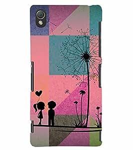 PrintVisa Romantic Love Couple 3D Hard Polycarbonate Designer Back Case Cover for Sony Xperia Z3