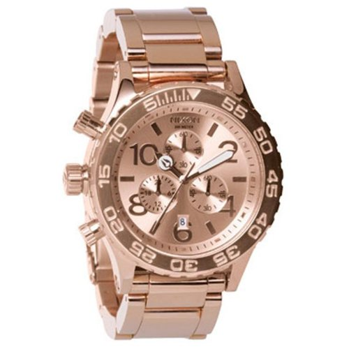 Nixon The 42 20 Chrono Watch One Size Rose Gold