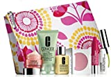 Clinique Gift Set 7 items, inc NEW Dramatically Different Moisturising Lotion +, Chubby Stick, All About Eyes, Blusher, Scrub Cream, High Lengths Mascara, Cosmetics Bag