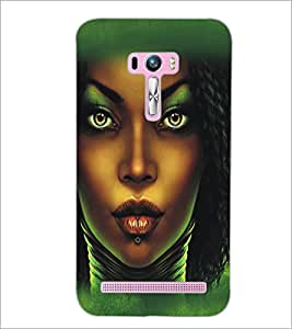 PrintDhaba Dusky Beauty D-5435 Back Case Cover for ASUS ZENFONE SELFIE ZD551KL ULTRA (Multi-Coloured)