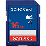 SanDisk 16GB Class 4 SDHC Memory Card, Frustration-Free Packaging (SDSDB-016G-AFFP)