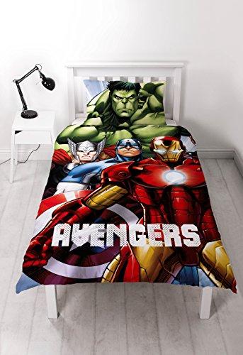 """Carattere Mondiale Singolo """"Disney Marvel Avengers Shield GID"""" Pannello Parure, multi-colore"""