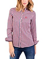 POLO CLUB Camisa Mujer Margot Academy (Azul Marino / Rojo)