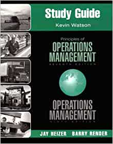 operations management study guide Hotel operations & management study guide for module one (a full 'study & training guide' will accompany the study or training manual(s.