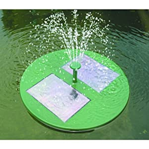 Floating solar fountain pump with filter for for Solar water filter for ponds