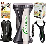 iPerfect Kitchen Vegetable Spiralizer Bundle - Envy Spiral Slicer - Zucchini Spaghetti Pasta Maker