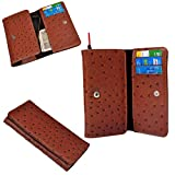 Ding Dong PU Leather Mobile Wallet Flip Pouch Case Cover For karbonn Titanium Hexa available at Amazon for Rs.289