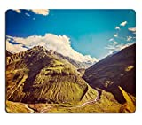 MSD Natural Rubber Gaming Mousepad Vintage retro effect filtered hipster style travel image of Himalayan valley in Himalayas Lahaul valley Himachal Pradesh India IMAGE 29848015