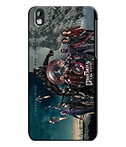 EU4IA CIVIL WAR MOVIE MATTE FINISH 3D MATTE FINISH Back Cover Case For HTC DE...