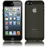 PrimaCase - Coque pour Apple iPhone 5 / 5s en TPU Silicone Semi-Transparent - Noir (Smoke)