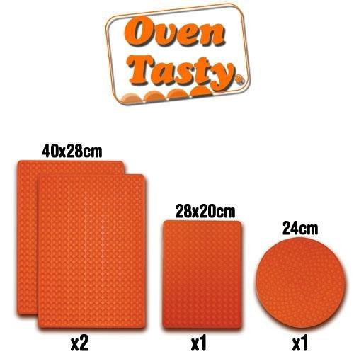 Oven Tasty VHGHSCSET0207 tapis pour la cuisson au four et micro-ondes nourriture saine et sans graisse