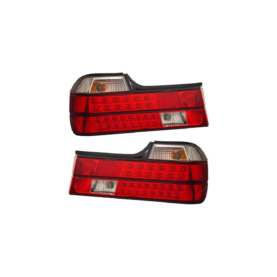 BMW 7 SERIES E32 88 94 LED TAIL LIGHT RED/CLEAR NEW