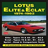 R.M. Clarke Lotus Elite & Eclat 1974-1982 Road Test Portfolio (Brooklands Books Road Test Series) (Brooklands Books Road Tests Series)