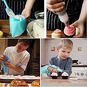 Piping Bags and Tips Cake Decorating Supplies Tips Kits by PROKITCHEN for Baking Decorating Cake