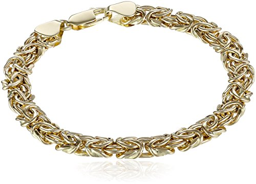 14k Yellow Gold Byzantine Chain Bracelet