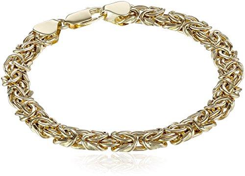 14k Yellow Gold Byzantine Chain Bracelet