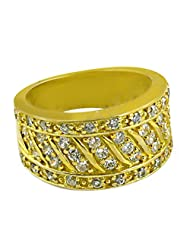 Artpalace CZ Collection Silver Gold Plated Ring For Men