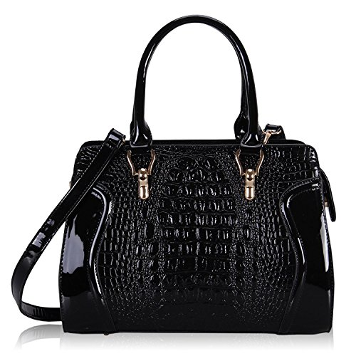 Hynes-Victory-Crocodile-Pattern-Top-Handle-Handbags
