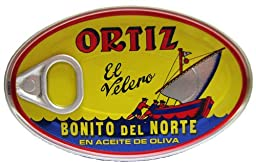 Ortiz Bonito Del Norte Tuna In Olive OIl 3.95 oz Oval Tin (Spain) 96 pack