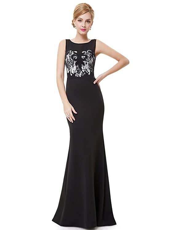 Ever Pretty Sleeveless Fitted Long Black Evening Gown 08446