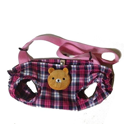 Pet Sling Carrier Shoulder Puppy Kitty Dog Cat Kitten Bag,Travel Outdoor,Cotton Soft Comfortable,Hands-free,Carry Tote Handbag (L(Less thand 22 lbs), Pink)