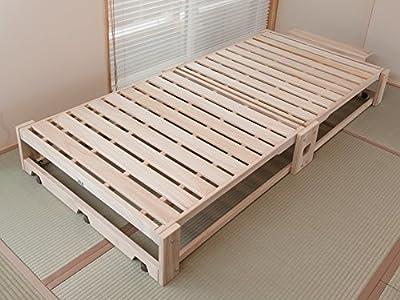 木製折りたたみベッド 桐らくね (総桐製)