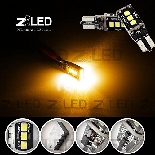 Z8 2Pcs T10 W5W 501 194 168 Build In Canbus Error Free Extreme High Power 9P 2835 Chip Smd Led Xenon Backup Reverse Light Bulbs Signal Stop Brake License Plate Door Lamp Z8Led #T10Cn9Y