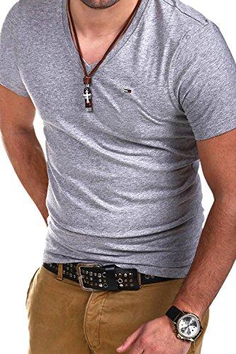TOMMY HILFIGER T-Shirt V-Neck PANSON [Grau, S]