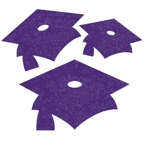 Purple Glitter Graduation signs