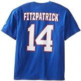 NFL Mens Buffalo Bills Ryan Fitzpatrick The Eligible Receiver Deep Royal Short Sleeve Basic Crew Neck Tee