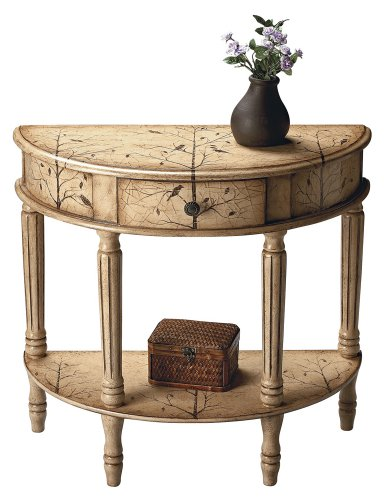 Buy low price tuscan cream hand painted demilune console table b004z93ht8 - Cheap entrance table ...